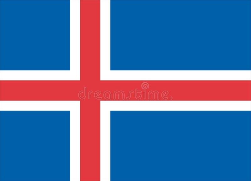 Flag of Iceland. Vector illustration royalty free illustration