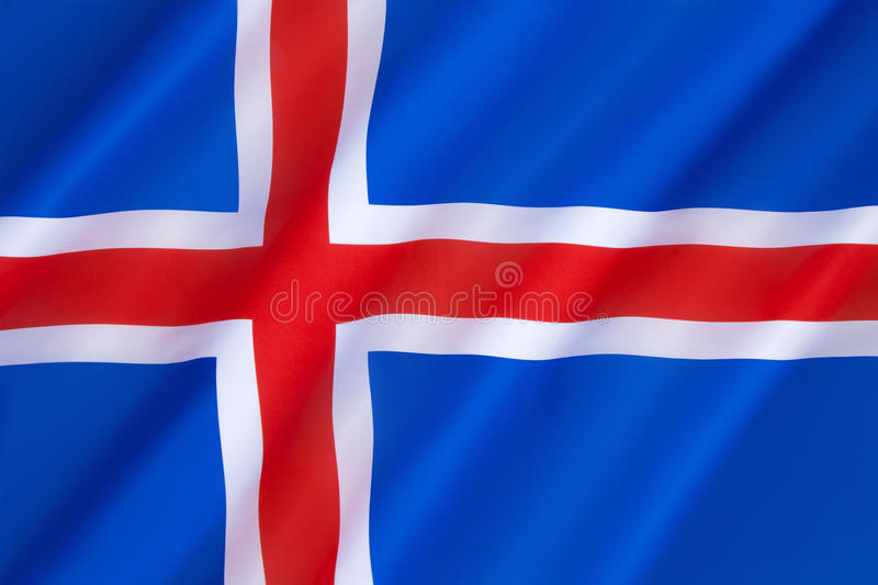 Flag of Iceland stock photography