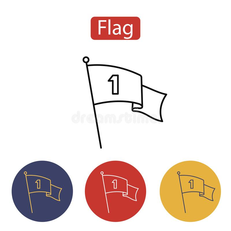 Flag Icon. The banner sign. vector illustration