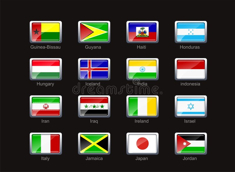 Download Flag icon set (part 5) stock illustration. Image of iran - 4933791