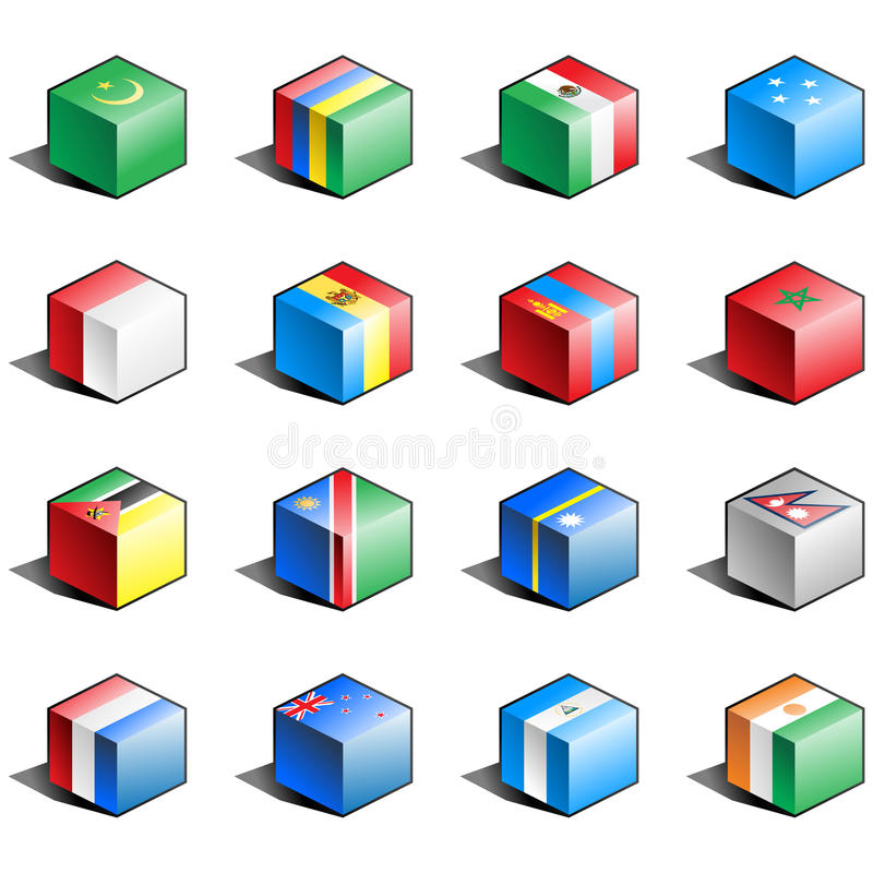 Download Flag icon set (part 8) stock vector. Image of mozambique - 14294671