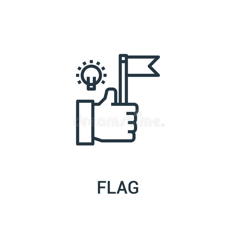 Flag icon vector from seo collection. Thin line flag outline icon vector illustration. Linear symbol for use on web and mobile. Apps, logo, print media stock illustration
