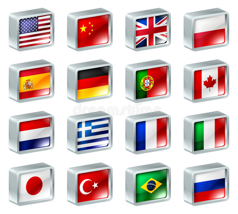 Download Flag Icons Buttons Stock Images - Image: 24090414