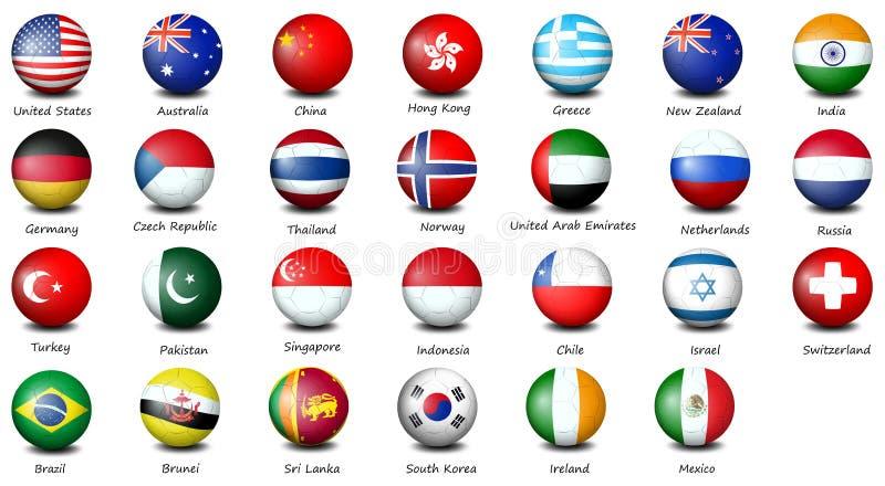 Flag icons royalty free illustration