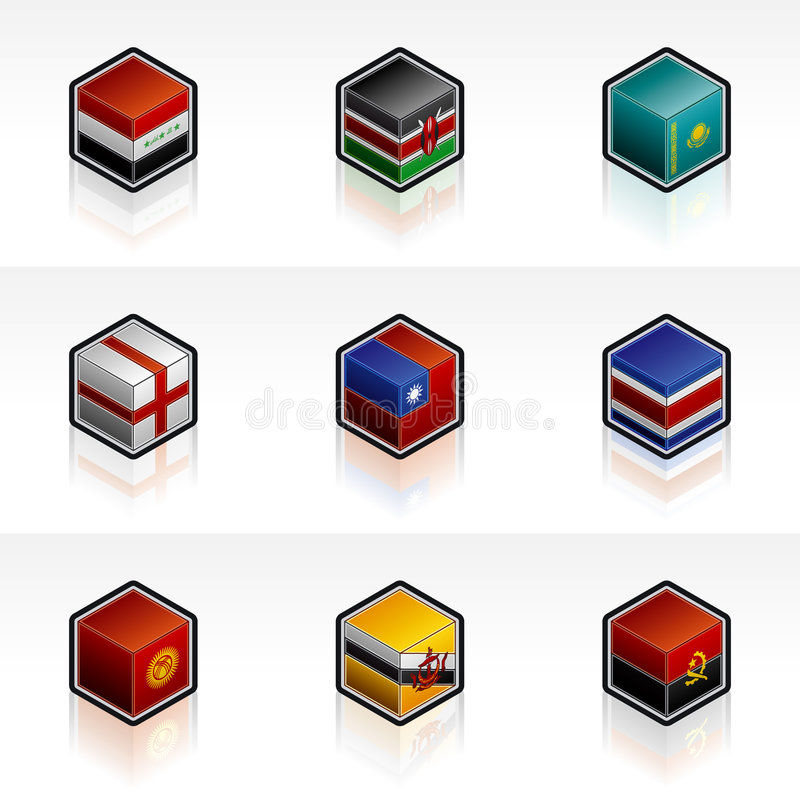 Flag Icons Set - Design Elements 56s. It's a high resolution image with CLIPPING PATH for easy remove unwanted shadows underneath vector illustration