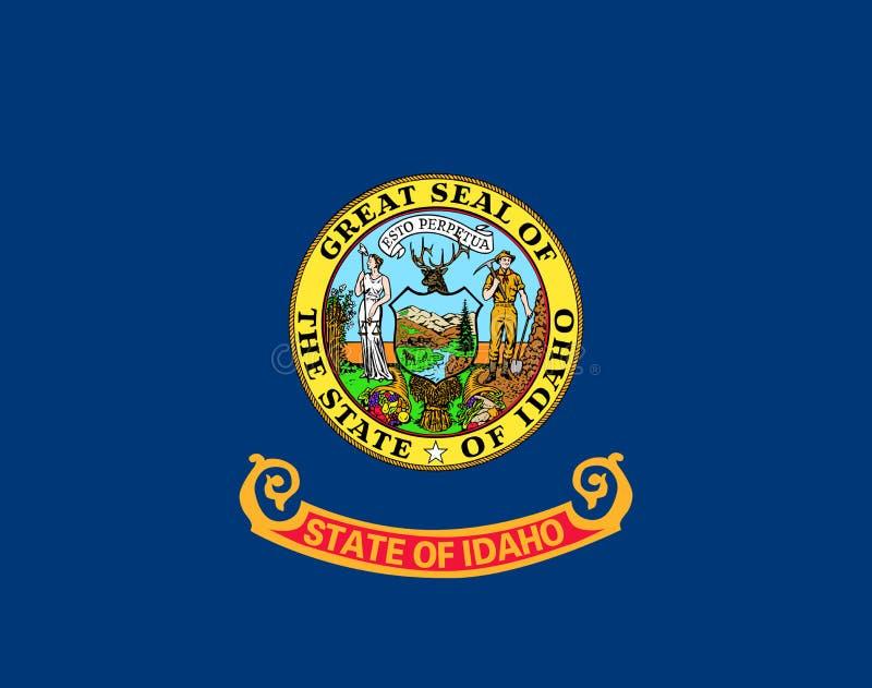 Flag of Idaho. Flag of the State Idaho royalty free stock image