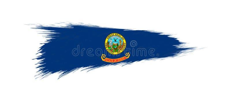 Flag of Idaho US State in grunge brush. Stroke, vector grunge illustration vector illustration