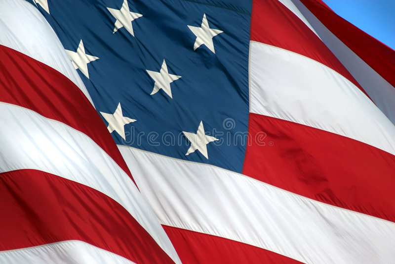 Download Flag II stock image. Image of glory, blue, stars, stripes - 85991