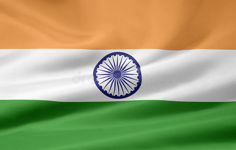 Flag of India royalty free illustration