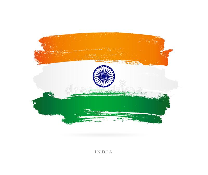 Flag of India. Abstract concept stock illustration