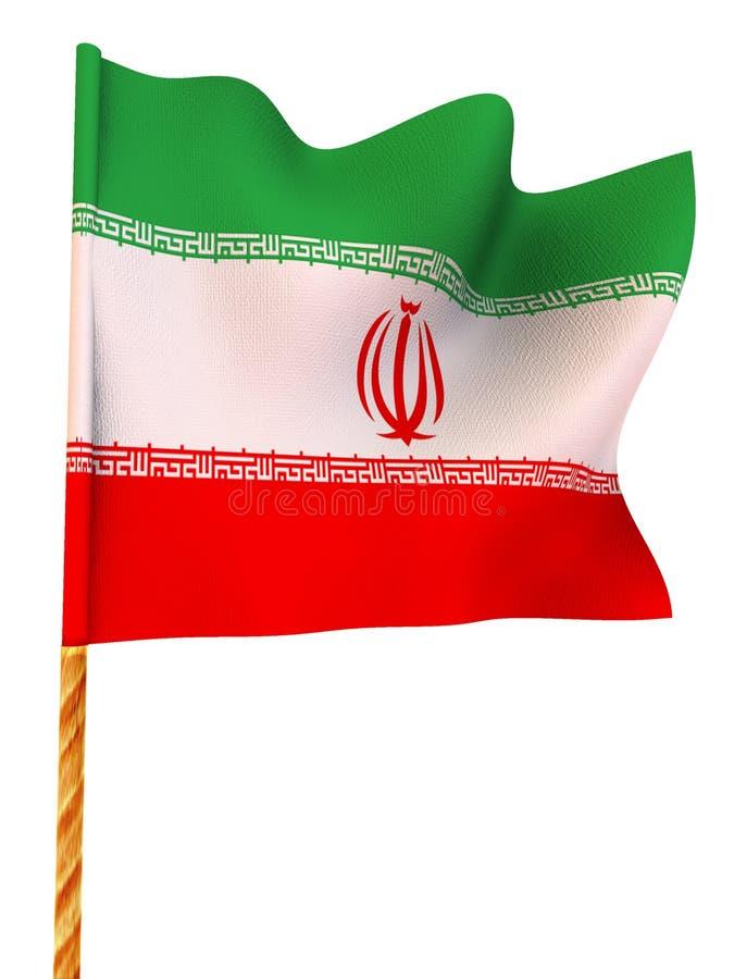 Download Flag. iran stock illustration. Image of state, three, majestic - 6608484