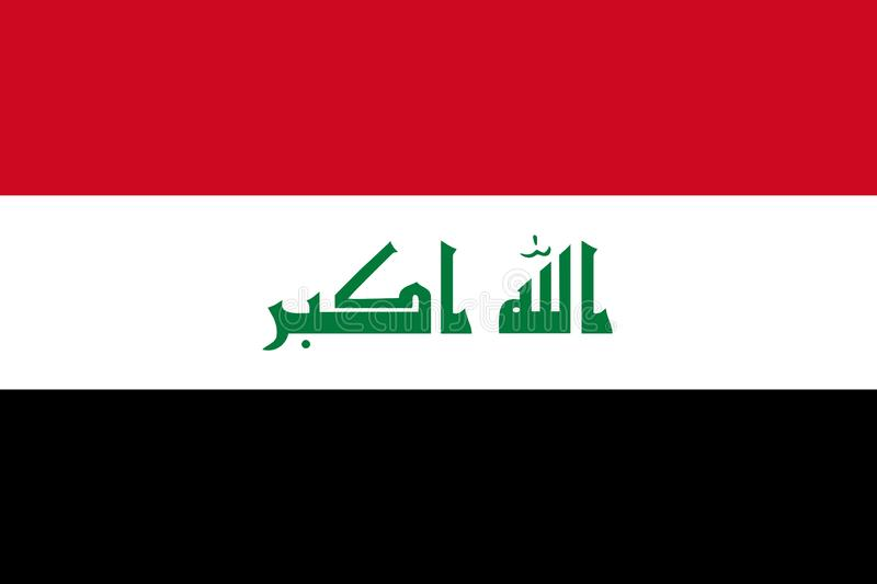 Flag of Iraq. Background or texture close-up royalty free illustration