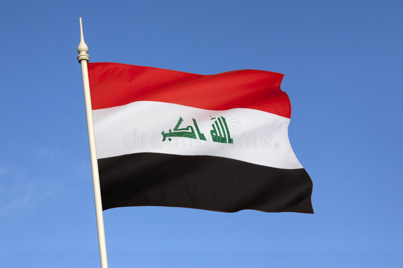 Flag of Iraq. The flag of Iraq. In January 2008, a new design for the flag was confirmed. The parliament intended that the new design last for one year, after royalty free stock photography