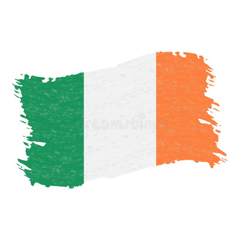 Flag of Ireland, Grunge Abstract Brush Stroke Isolated On A White Background. Vector Illustration. vector illustration