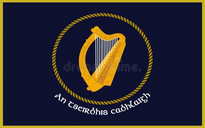 Flag Irish Naval Service stock photos