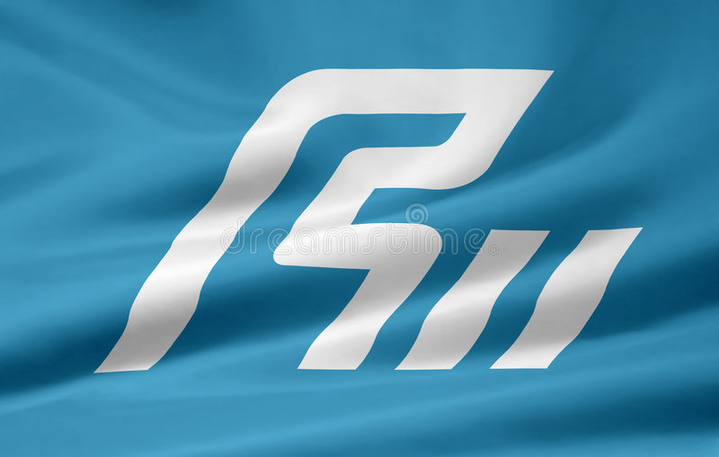 Flag of Ishikawa - Japan stock photo
