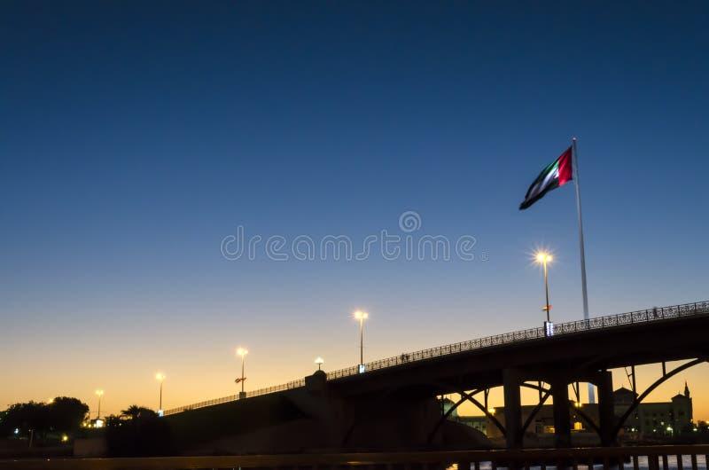 Flag Island Sharjah UAE royalty free stock image
