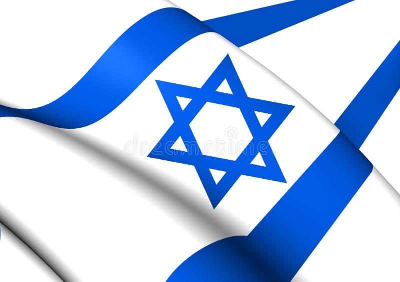 flag israel vektor illustrationer