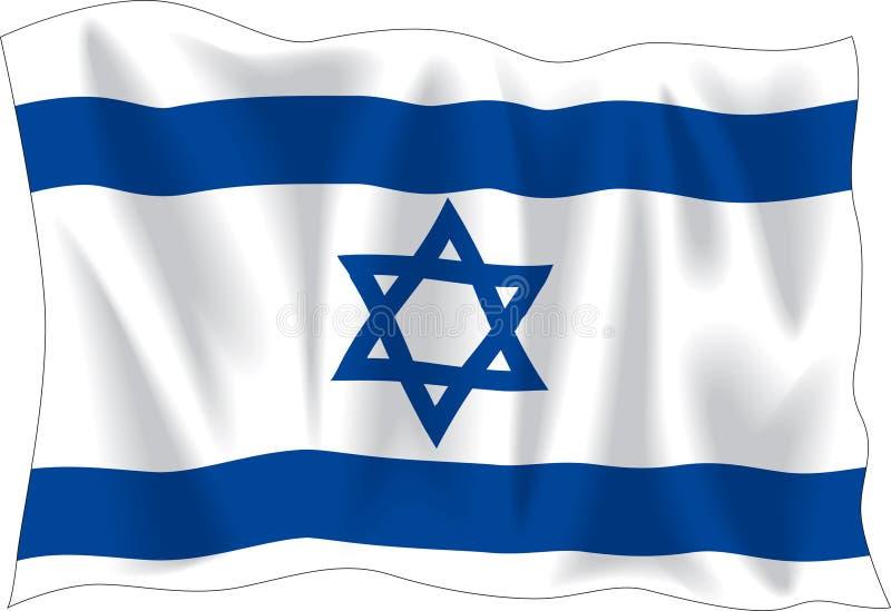 Flag of Israel stock illustration