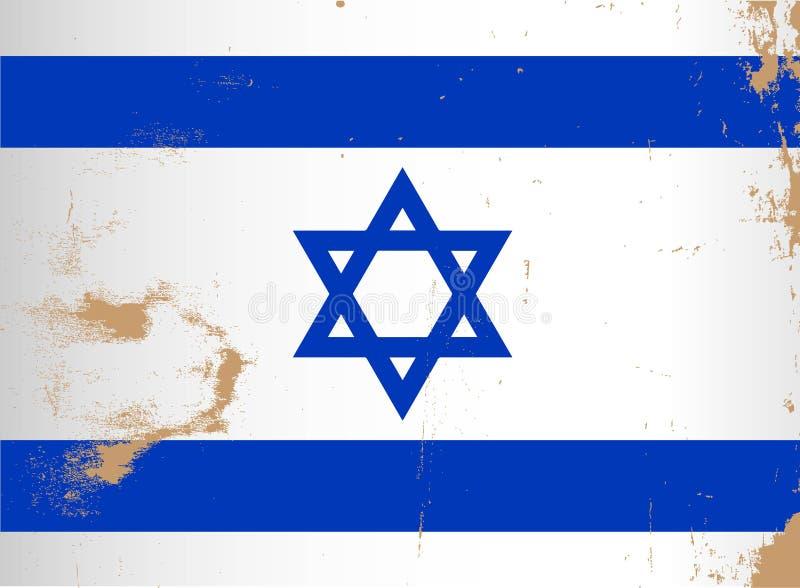 Israel Flag Grunge royalty free illustration