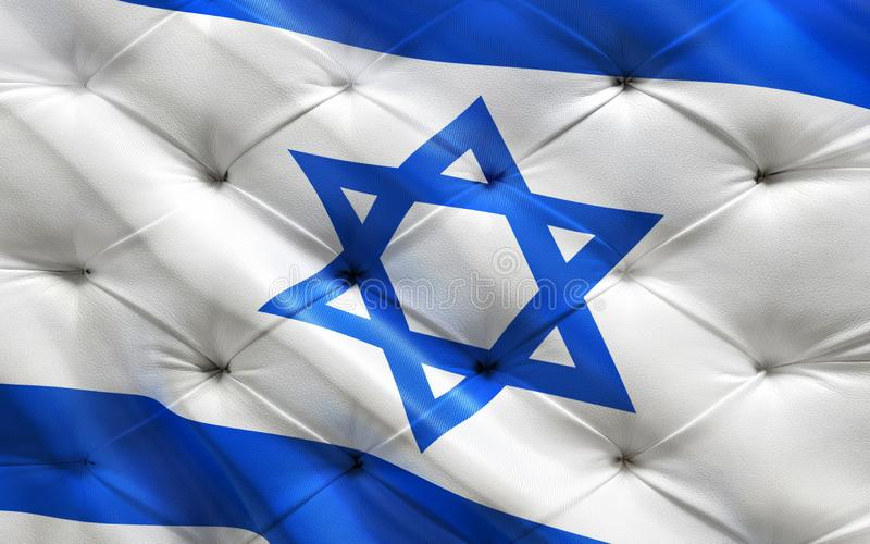 Flag of Israel on capitone royalty free stock photos