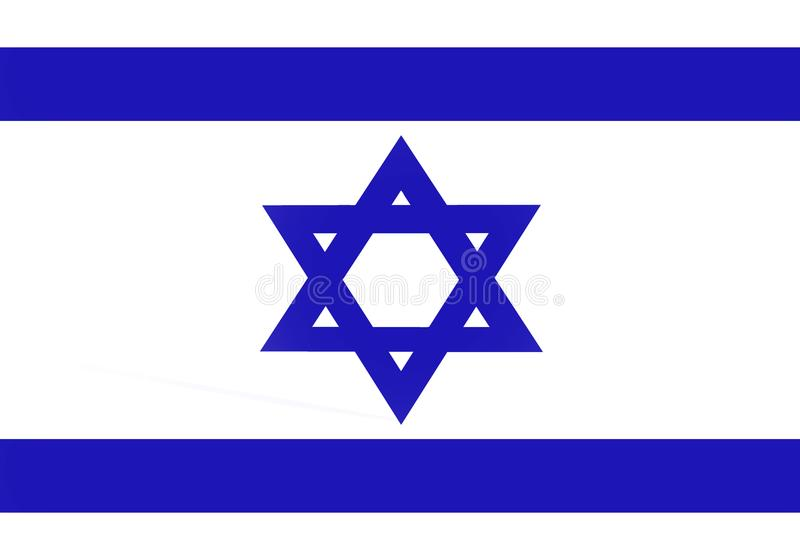 Flag Of Israel. Background blue stock illustration