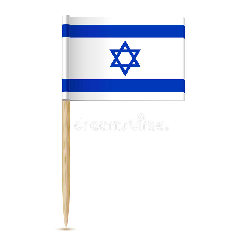 Flag of Israel. Flag toothpick. 10eps