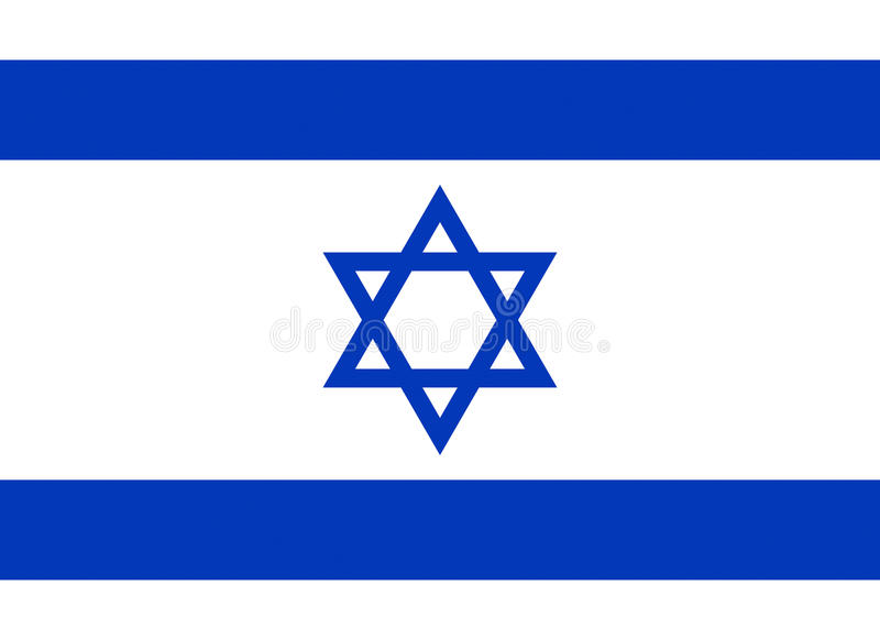 Flag of Israel. Illustration of the flag of Israel royalty free illustration