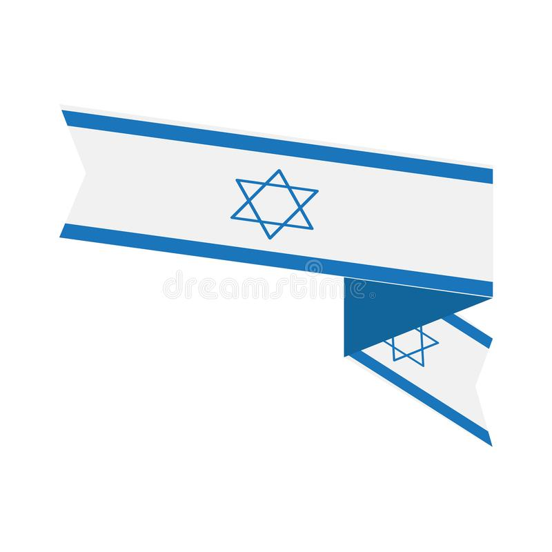 Flag of Israel. Isolated flag of Israel. Vector illustration design royalty free illustration