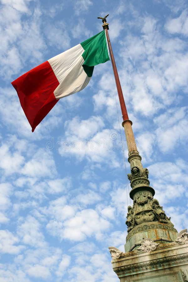 Flag of Italy. The flag of Italy blowing in the wind