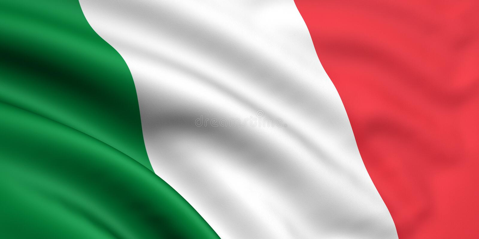 Flag Of Italy. 3d rendered flag of italy