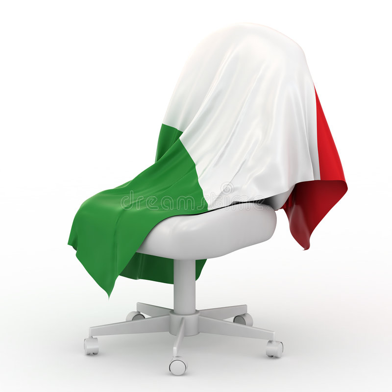 Flag of Italy royalty free illustration