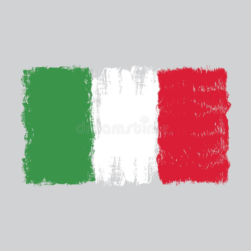 Flag of Italy,hand drawn watercolor design vector illustration