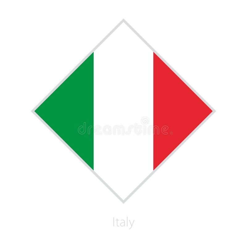 Flag of Italy participant of the Europe football competition. royalty free illustration