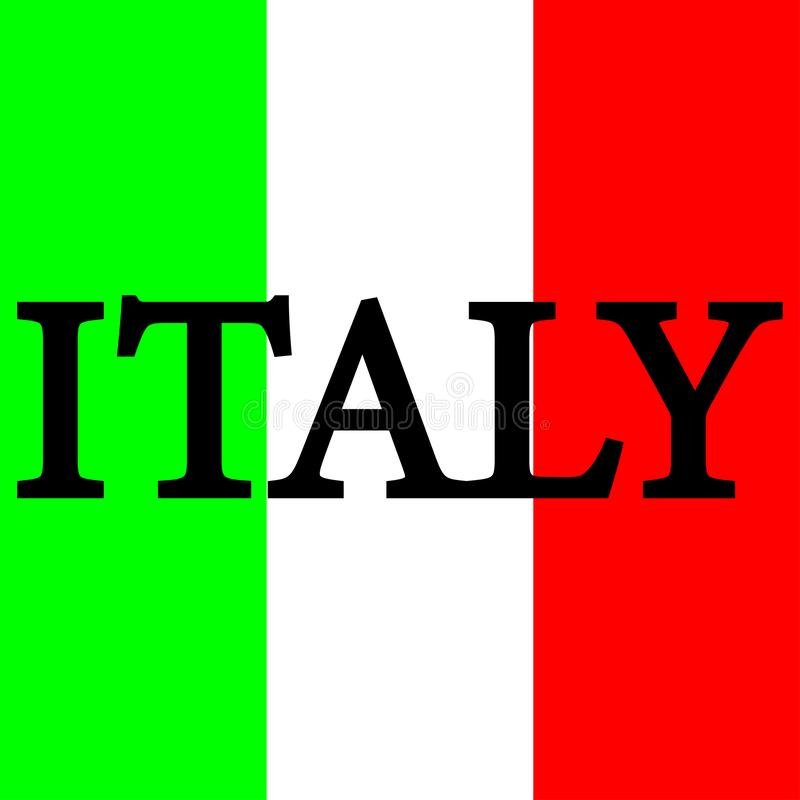Flag of Italy sign. Three colors of green, white and red sign. Eps ten royalty free illustration