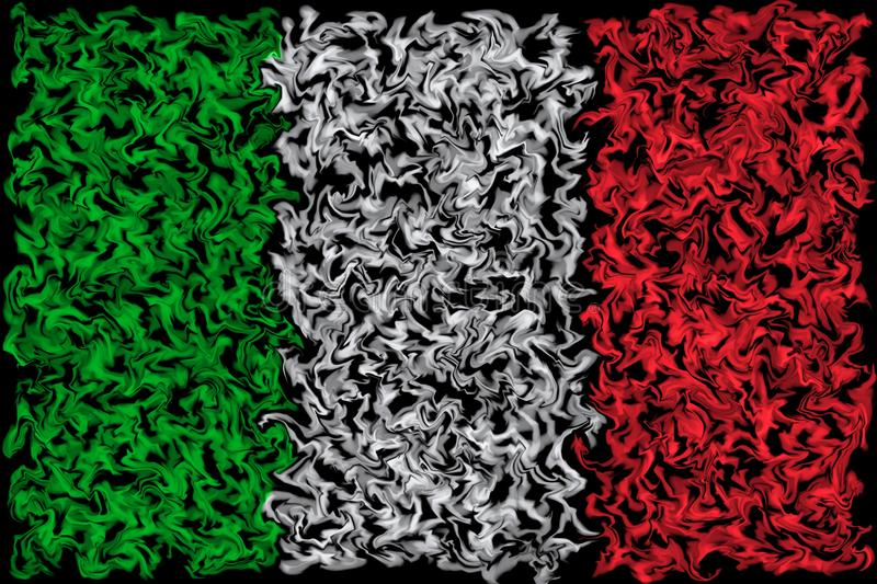 Flag of Italy - Smeared Burning Colors Design royalty free illustration