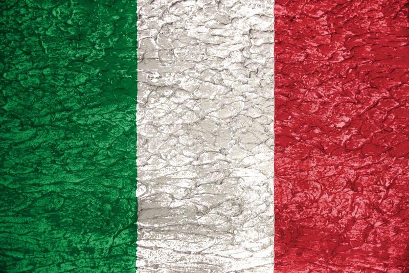 Italian flag collage stock illustration. Illustration of ...