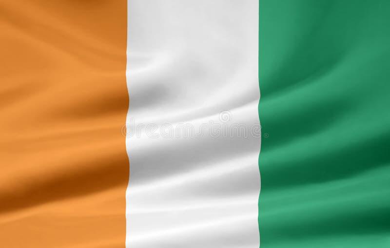 Flag of Ivory Coast stock photography