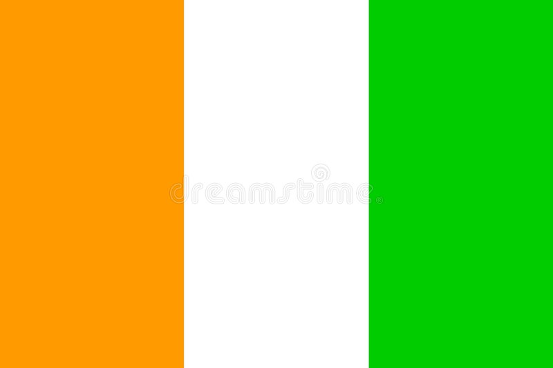 Flag of Ivory Coast. National country symbol illustration Vector illustration available for download. Click here for more vectors royalty free illustration