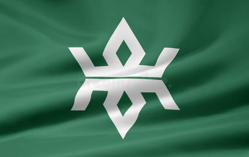 Flag of Iwate - Japan stock photos
