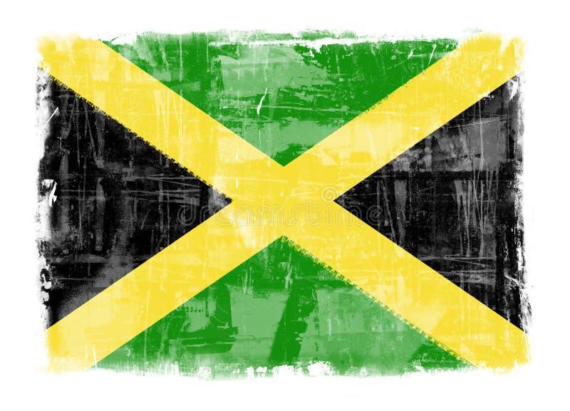 Flag of Jamaica. Computer designed highly detailed grunge illustration - Flag of Jamaica stock illustration