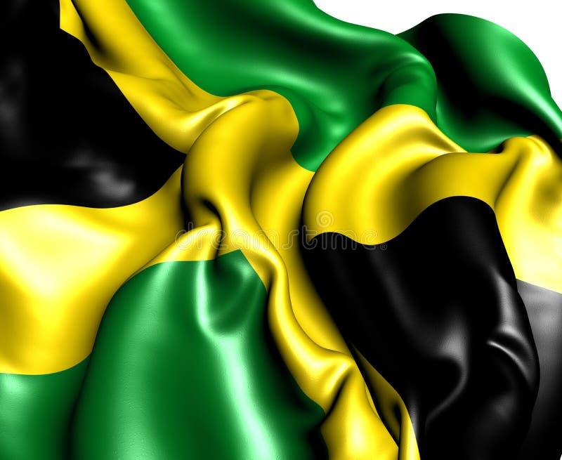 Flag of Jamaica. Close Up stock illustration