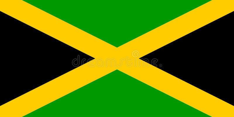 Flag of Jamaica. National country symbol illustration Vector illustration available for download. Click here for more vectors stock illustration
