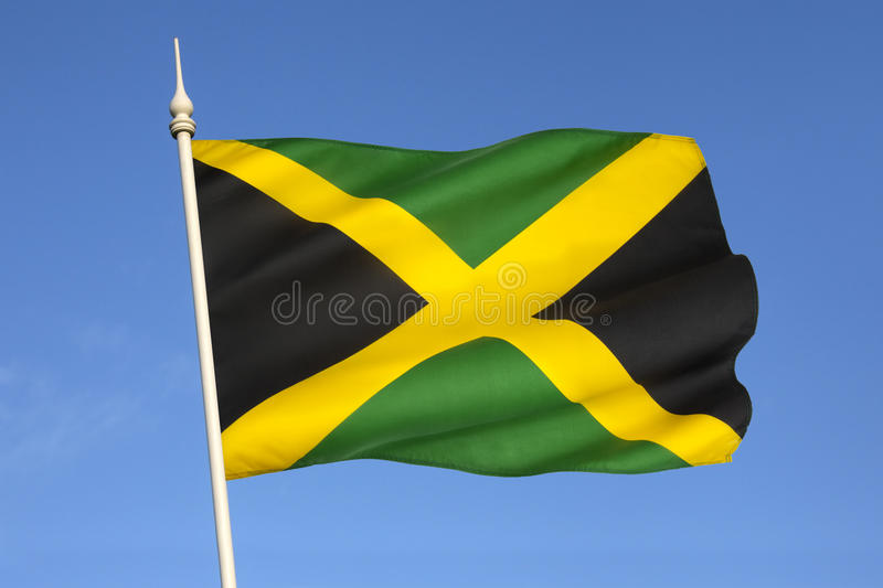 Flag of Jamaica - The Caribbean royalty free stock images