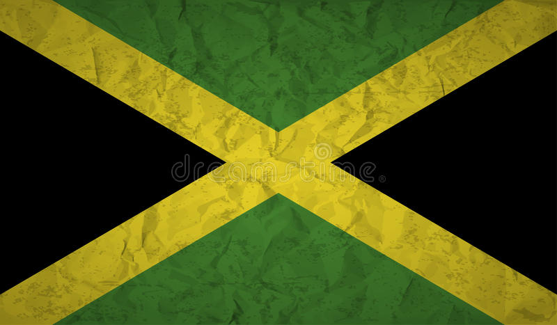 Download Flag Of Jamaica With The Effect Of Crumpled Paper And Grunge Stock Illustration - Image: 83891740