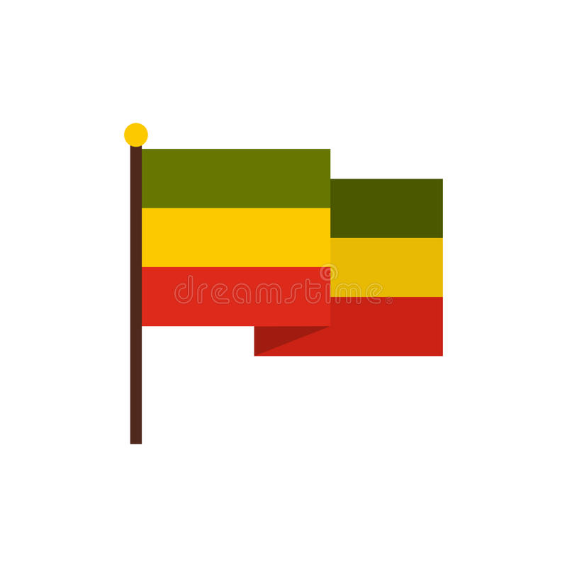 Flag of Jamaica icon, flat style. Flag of Jamaica icon in flat style on a white background vector illustration royalty free illustration