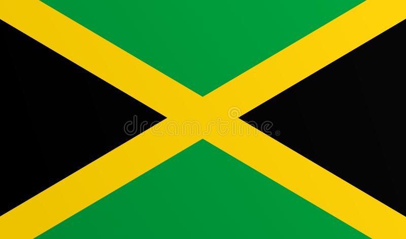 Flag of Jamaica with transition color - vector image. Flag of Jamaica with transition color - vector graphic stock illustration
