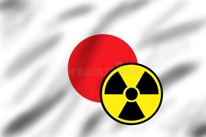 Download Flag Of Japan With Radiation Sign Stock Photo - Image: 18846602