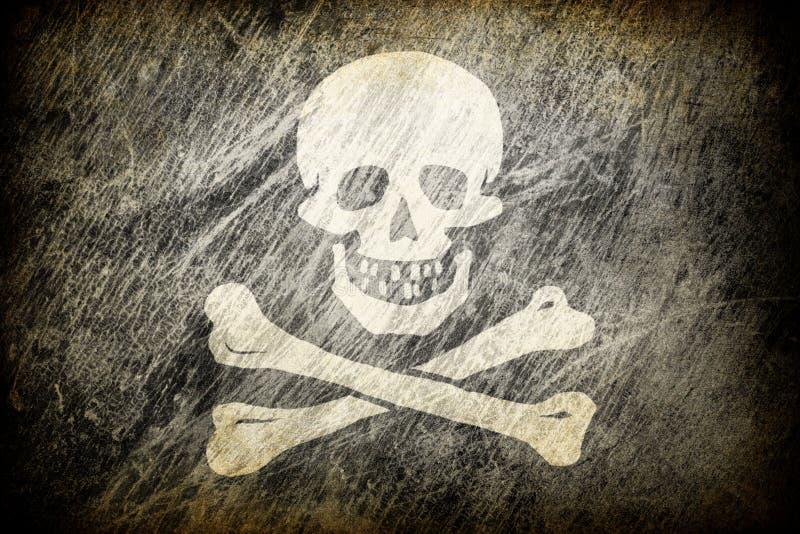 Download Flag of Jolly Roger. stock illustration. Image of damaged - 16256623