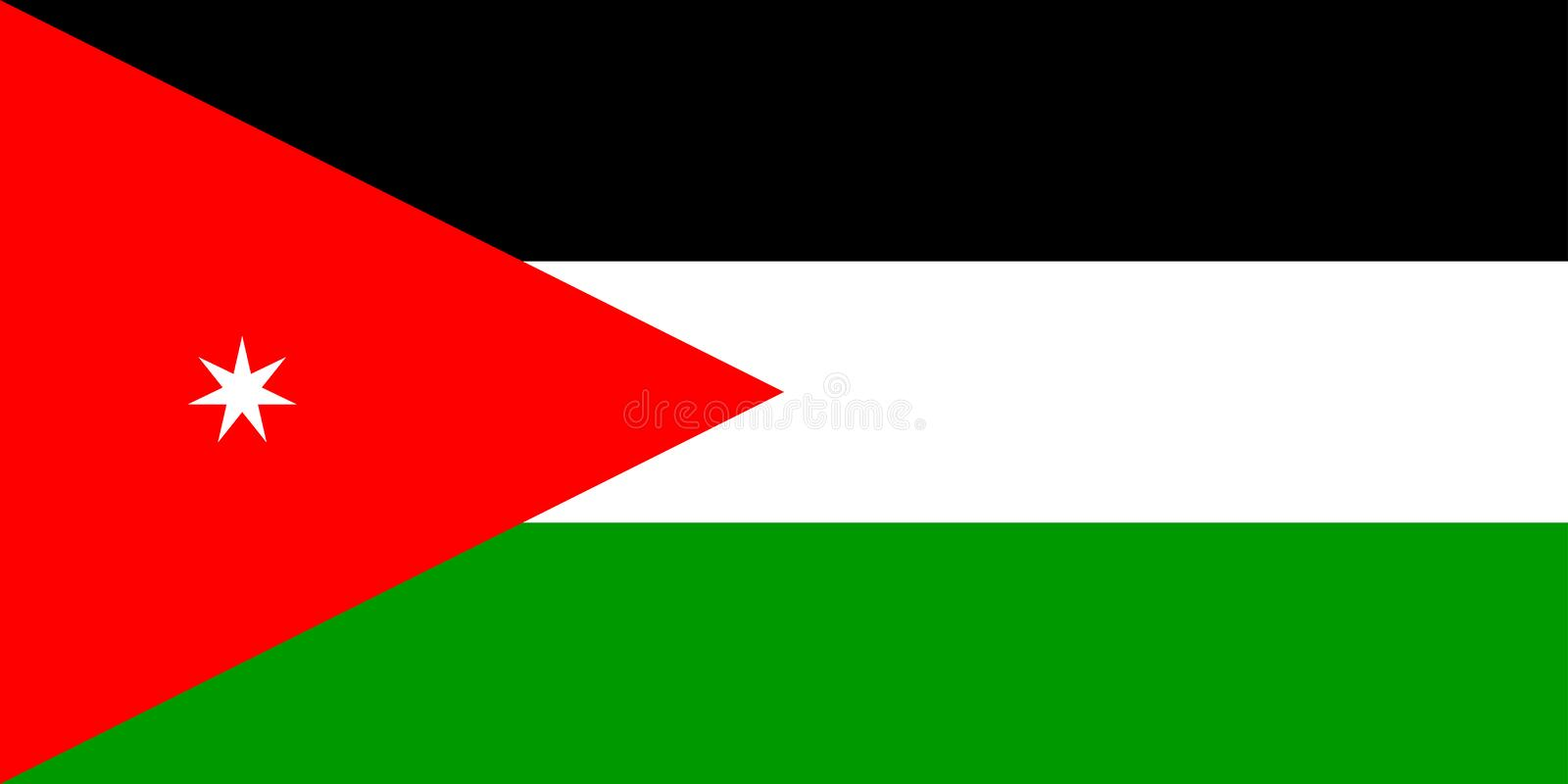 Flag of Jordan. National country symbol illustration Vector illustration available for download. ==> Click here for more vectors royalty free illustration